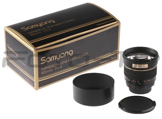 Emballage du Samyang 85mm